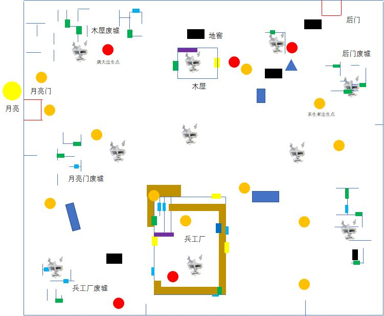 第五人格:里奥的回忆1:1详细地图,监管者最强地图?