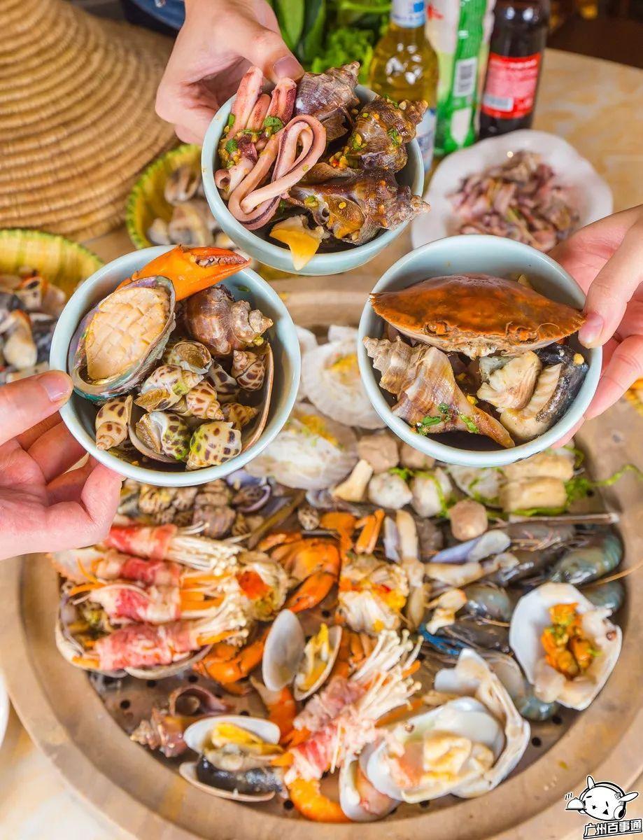 石锅草帽蒸汽海鲜,100%原汁原味!豪请全广州人吃海鲜!