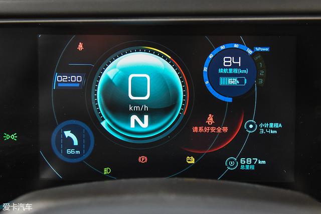 第一块屏幕是驾驶员面前的仪表盘.图片