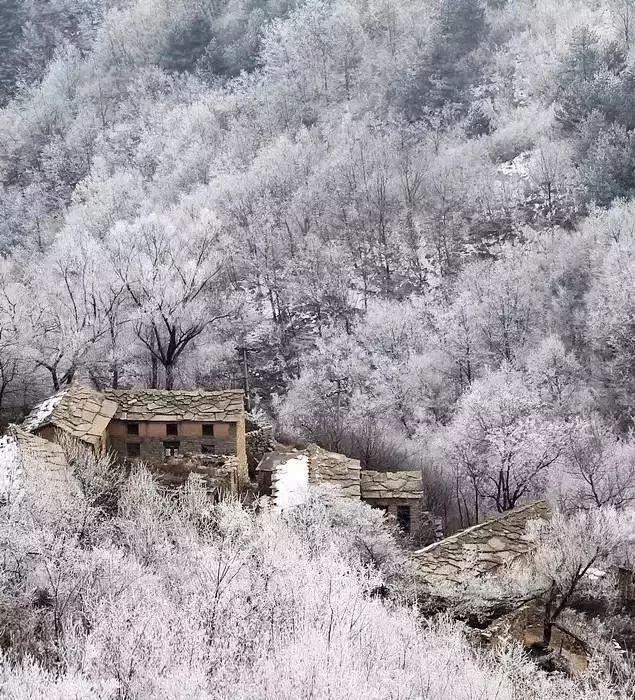 洛阳老君山风景区冬天