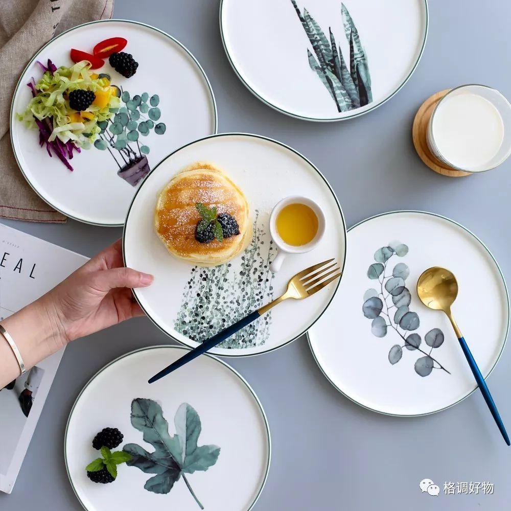花季日式手绘陶瓷餐具 6元起